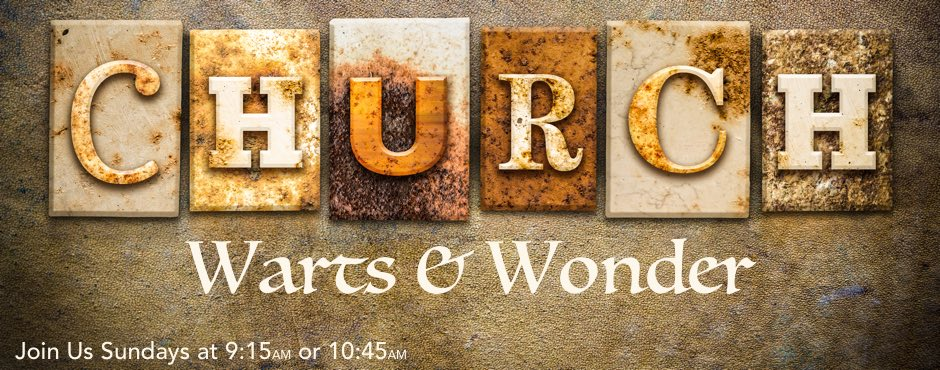 "The word ""CHURCH"" written in rusty metal letterpress type on an old aged leather background."